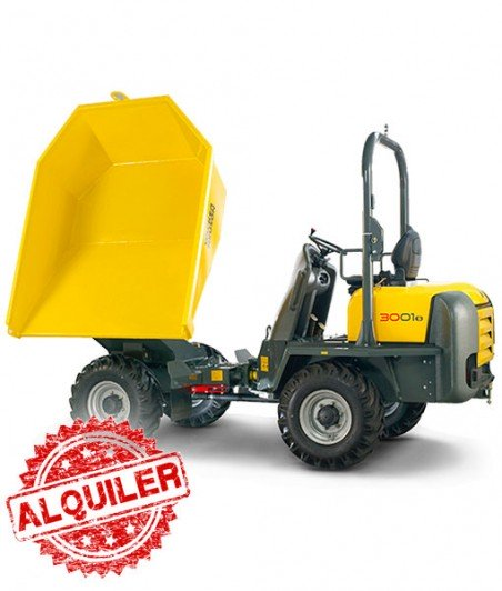 WACKER NEUSON DUMPER 3001 4X4 ARTICULADO GIRATORIO 3000 Kg