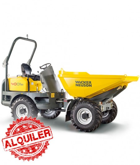 WACKER NEUSON DUMPER 4001 4X4 ARTICULADO GIRATORIO 4000 Kg