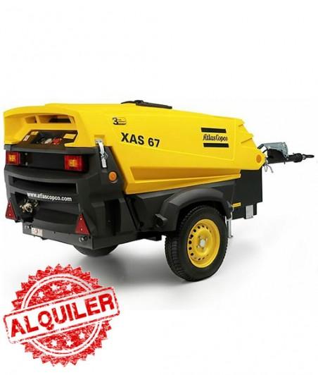 ATLAS COPCO XAS-67 COMPRESOR DIESEL 4000 L