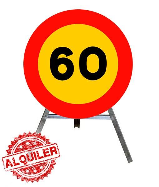 CEPRENOR SEÑAL DE OBRA CON TRIPODE 60KM/H