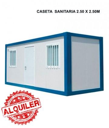NUEVO SISTEMA MODULAR CASETA  SANITARIA 2.50X2.50M