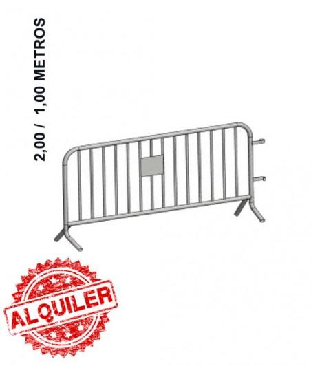 DACAME VALLA PEATONAL DE METÁLICA 2.00X1,00
