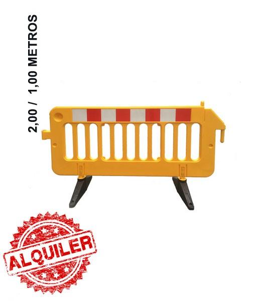 DACAME VALLA PEATONAL DE PLASTICO 2.00X1,00X0,55M